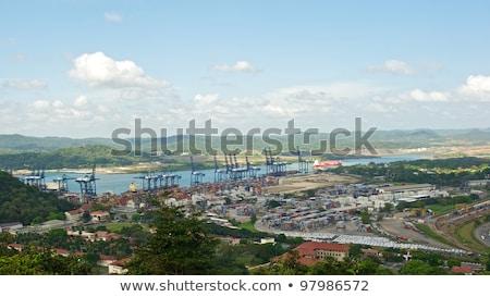 Panama heuvel gebouw Stockfoto © dacasdo