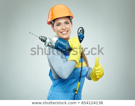 thumbs up from a female construction worker stock photo © photography33
