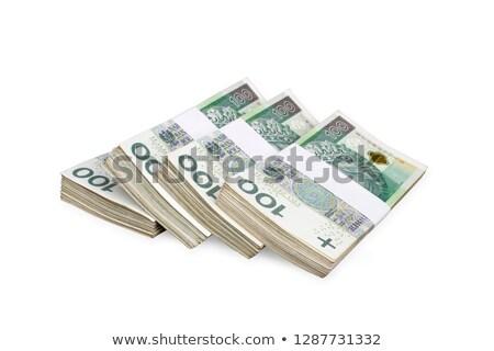 polish banknotes 100 zloty background stock photo © kuligssen