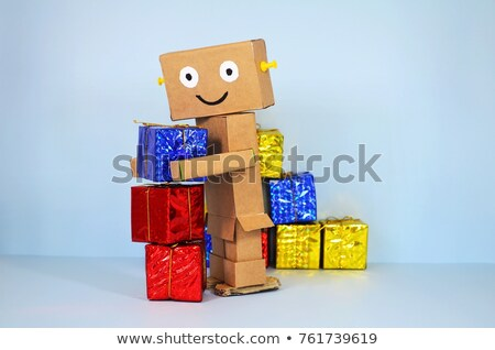 Happy Birthday toy robot Stock photo © creisinger