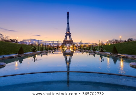 The Eiffel Tower in Blue Illumination Stock photo © maxpro
