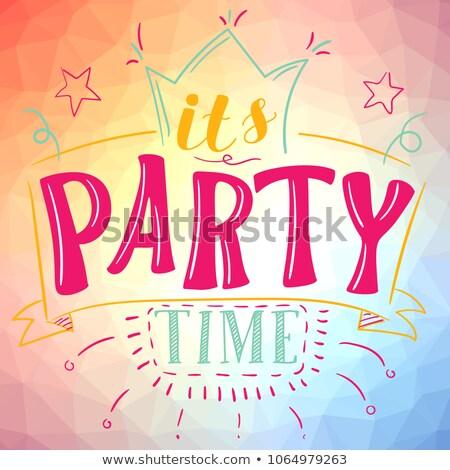 время · party · time · вечеринка · текста · часы · аннотация - Сток-фото © lithian