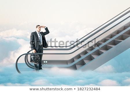 Yürüyen merdiven vizyon iş şehir kadın inşaat Stok fotoğraf © zzve