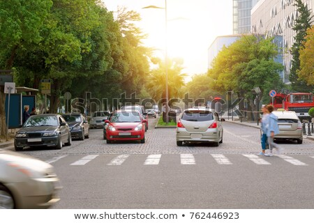 Crosswalk and dividing line on road Stock photo © zzve