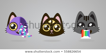 Vector icon japanese cat toy Stock photo © zzve