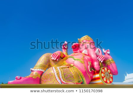 roze · standbeeld · ogen · oranje · Blauw · god - stockfoto © tungphoto