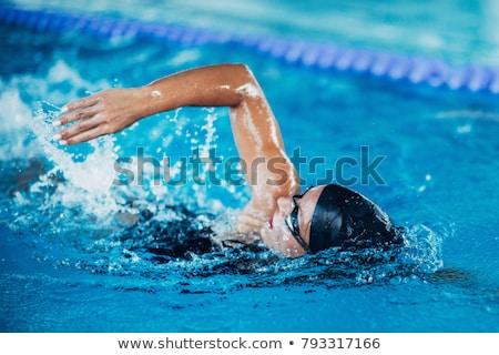 女性 スイマー プール 幸せ 水 ストックフォト © ElinaManninen