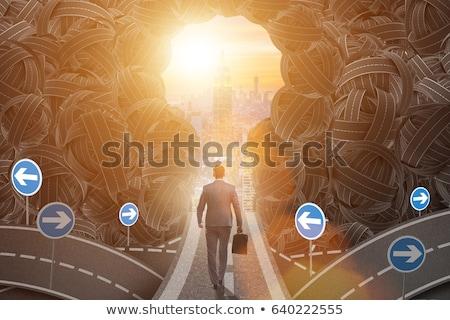 失業 ビジネス 青 背景 にログイン ストックフォト © tashatuvango