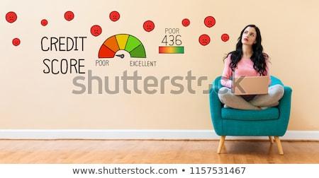 Pobre crédito contagem mão verificar Foto stock © ivelin