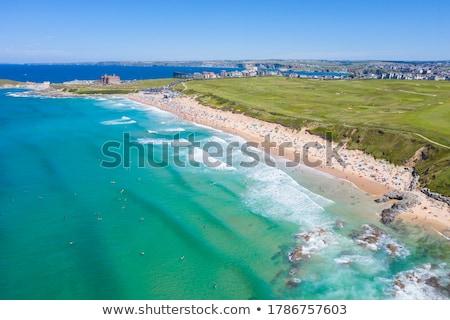 Stockfoto: Cornwall · strand · zuiden · west · boom · zonsondergang