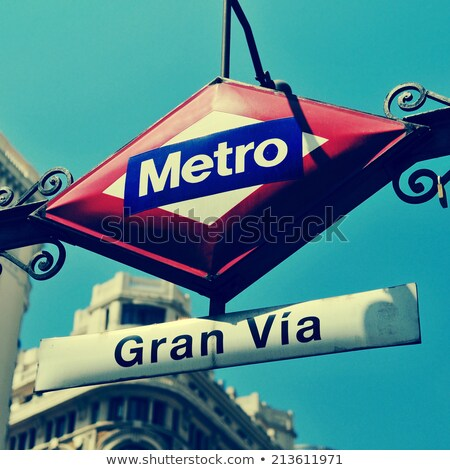 Madryt · główny · zakupy · ulicy · Hiszpania · zmierzch - zdjęcia stock © asturianu