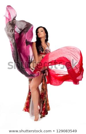 gyönyörű · egzotikus · has · táncos · nő · fiatal - stock fotó © stockyimages