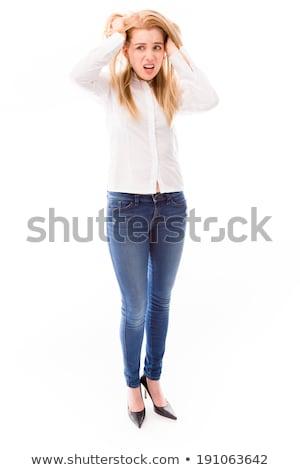 肖像 · 若い女性 · 黒のランジェリー · ブラジャー · 背面図 - ストックフォト © rob_stark