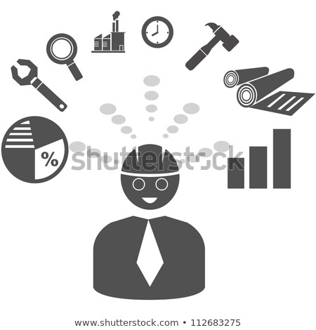 Magnifying Glass with Time Management Concept. Stock photo © tashatuvango
