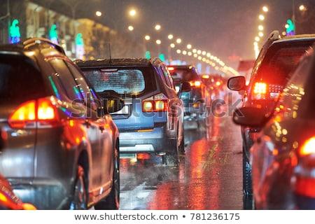 Trafik akşam görmek karayolu bulanık hareketli Stok fotoğraf © Lynx_aqua