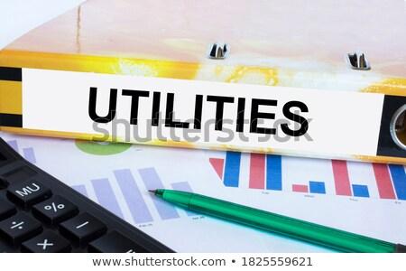 Folder with the label Utilities Stock photo © Zerbor