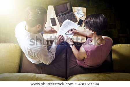 あごひげ ビジネスマン にログイン 契約 デスク ペン ストックフォト © sebastiangauert