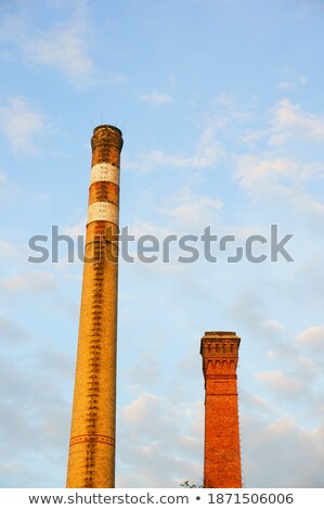 Factory under the big clouds and blue sky Stock photo © shihina