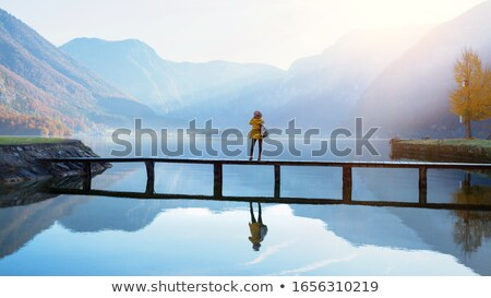 summer landscape reflected in water Stock photo © ptichka