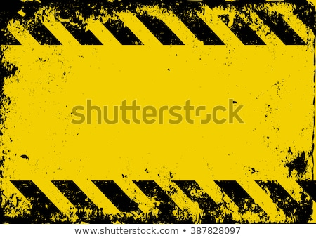 Grunge Vector Background With Danger Tapes Stock photo © Voysla