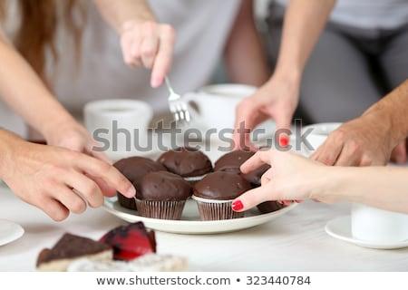 Csokoládé gyűlés tej cukorka kövér fehér Stock fotó © almir1968