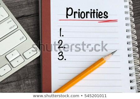 Lijst hand schrijven fiche geïsoleerd witte Stockfoto © ivelin