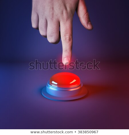 3d person with red button help stock photo © designers
