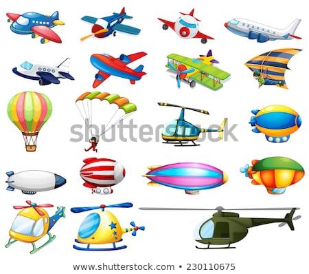 Ilustración aire transporte diferente colores cielo Foto stock © OleksandrO