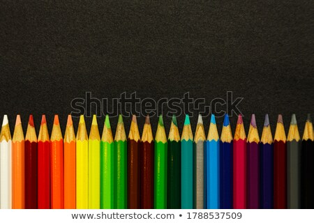 Different color pencils sharpened on dark background Stock photo © nalinratphi