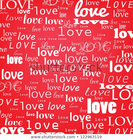 Red background with love inscription Stock photo © Artspace