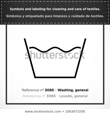 Textile care symbol and laundry symbol general drying Stock photo © Ustofre9