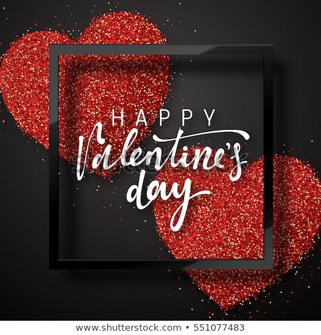Festive red Valentines Day vector card design stock photo © alevtina