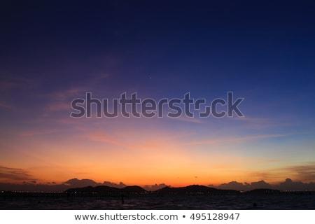 Dramatique ciel nuages coucher du soleil paysage Photo stock © vinodpillai