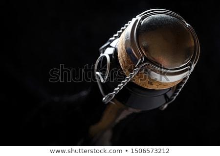champagne · fles · nek · macro · witte · glas - stockfoto © ozaiachin