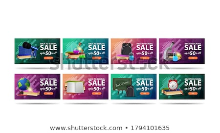 Student Discount Green Vector Icon Button stock photo © rizwanali3d