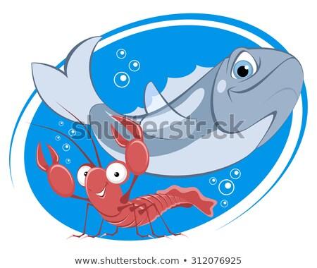 Fish and shrimps for sale Stock photo © elxeneize