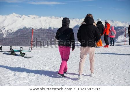 Heiligenblut-Grossglockner ski resort with skiing people  stock photo © kasjato