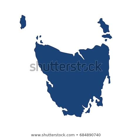 Carte tasmanie noir vecteur Australie isolé Photo stock © rbiedermann