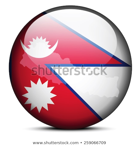 map on flag button of federal democratic republic nepal stock photo © istanbul2009