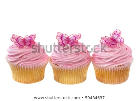 Little cupcake with pink frosting stock photo © BarbaraNeveu