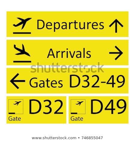черный желтый ворот знак закрыто дисков Сток-фото © ldambies