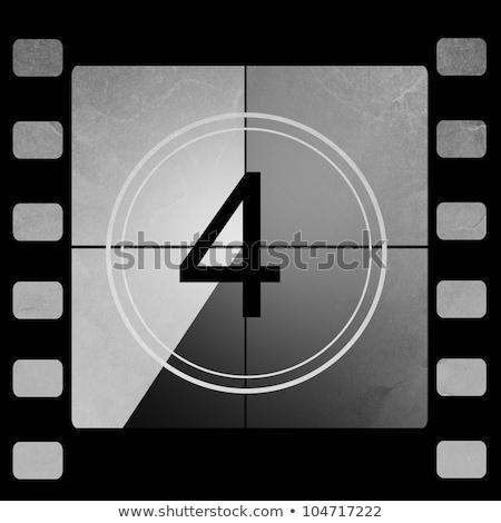 Filme contagem regressiva antiquado não quadro tela Foto stock © PokerMan
