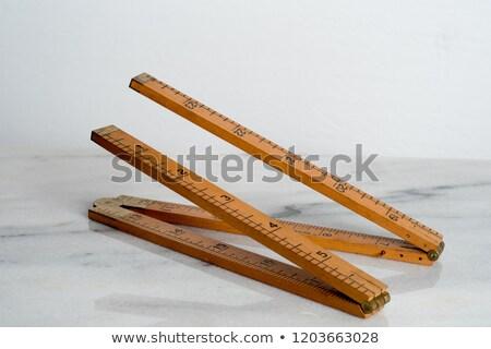 ヴィンテージ 木製 定規 学校 白 ストックフォト © RedDaxLuma