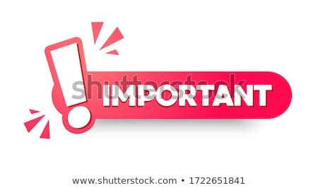 exclamation mark sticker icon Stock photo © nickylarson974