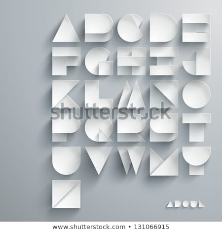 Vector graphic alphabet in a set Stock photo © feabornset