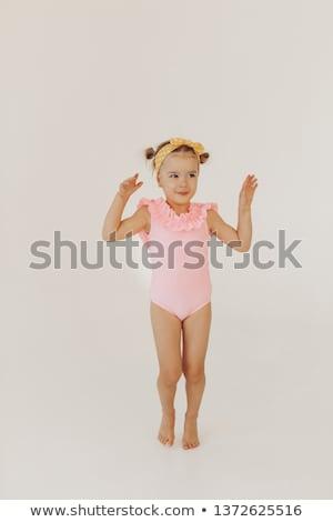 Chica atractiva traje de baño jóvenes hermosa de moda mujer Foto stock © Aikon