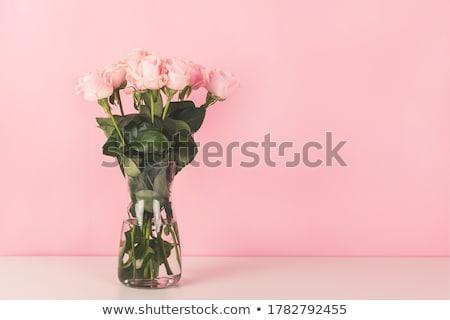 pink rose bunch stock photo © smithore
