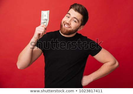 smiling boy with money dollar banknote Stock photo © fanfo