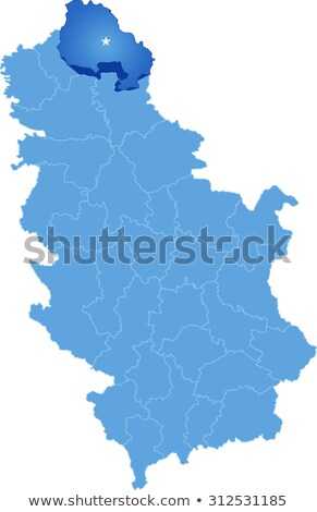Map of Serbia, Subdivision North Banat District Stock photo © Istanbul2009