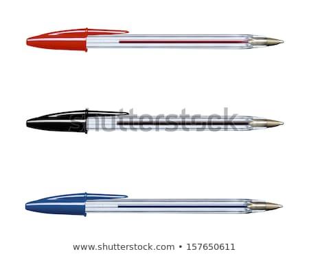 balle · point · stylo · isolé · illustration · bureau - photo stock © bigalbaloo
